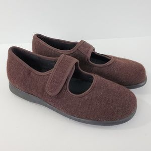 J. Jill Mary Jane Shoes Cloth Brown Round Toe 8